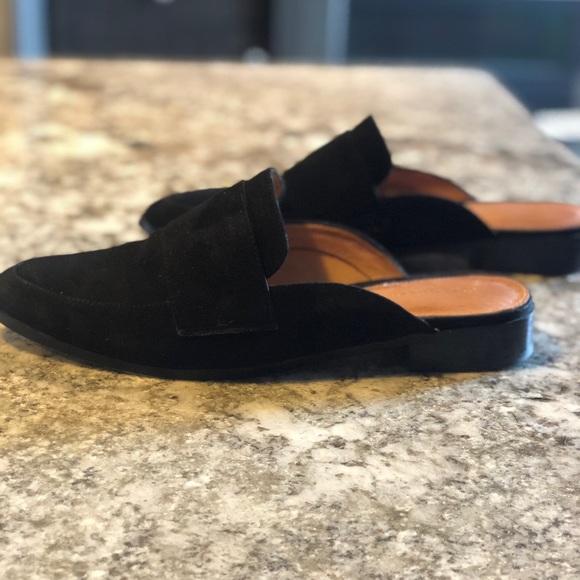 1e4bf075c0e Halogen Shoes - Halogen Violet Mule in Black Suede